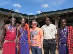 Meeting the Masai guides in Kenya