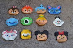 Personnages Tsum Tsum en perles Hama : Autres pièces pour créations par perlamel