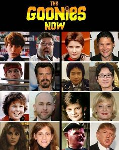 Ramblings of a Semi-Mad Man: The Goonies - Then and Now 80s Movies, Movie Tv, Movie Trivia, Movies Showing, Movies And Tv Shows, Party Poker, Then Vs Now, Peter O'toole, Celebrities Then And Now