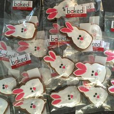 Gingerbread Bunnies for a little girls birthday party.