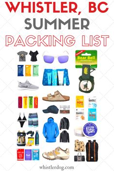 Whistler summer packing list: What to pack for Whistler in the summer? Clothes, shoes, toiletries, general stuff and necessities to pack for Whistler in the summer – with bonus dog packing tips for Whistler, as well.
