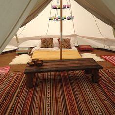 Tremorvu Campsite, Camping, Touring, Glamping & Self Catering Holidays close to the sea in Cornwall - Bell Tents