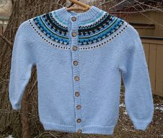 Toddler Fair Isle sweater from a pattern from Family Circle Easy Knits.  My first Fair Isle project.