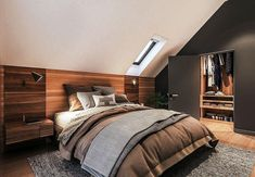 Zdjęcie projektu Murator M210 Jasna przestrzeń WAJ3695 Silver Bedroom, Bedroom Interior, Master Bedroom Design, Bedroom Design, House Design, Master Bedroom Interior, Bedroom Decor, Attic Bedroom, Sleeping Room