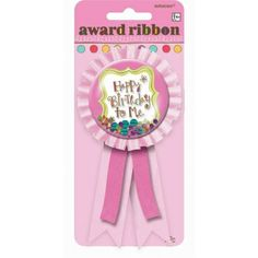 Not that your little one isn't already sweet enough, but a special birthday calls for a little more sweetness, which can easily be achieved with this super cute sweet stuff birthday ribbon, only $3.99 from Parties2order!