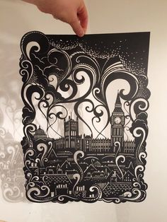 Artist Emily Hogarth created this paper cut based on the world of Smoke.