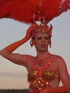 Hugo Weaving as Tick in Priscilla Queen of the Desert. He was also in Lord of the Rings (Lord Elrond), V for Vendetta, Transformers, Matrix, Captain America (Red Skull) Hugo Weaving, Julie Newmar, Drag Queens, Priscilla Queen, Film Inspiration, About Time Movie, Rupaul, Film Movie, Lgbt