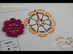 Interpretação Gráfico Crochê Flor Básica - Aula 7 - YouTube