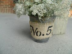 rustic table numbers via Etsy