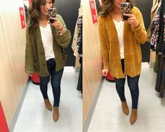 Looking for some new affordable fall pieces? Target is killing it in the sweaters, cardigans, and shoe selection right now and Sandy tries them on for you! Fashion Brand, New Fashion, Boho Fashion, Vintage Fashion, Fashion Outfits, Fashion Design, Fashion Bloggers, Target Style Fall, Image Svg