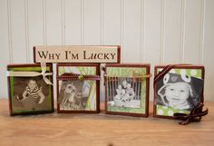 St. Patrick's Day Wood Blocks  Why I'm Lucky by AllibugArt on Etsy