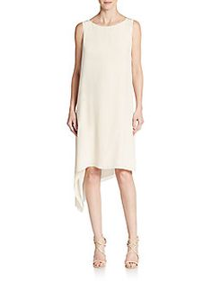 Eileen Fisher - Silk Asymmetrical-Hem Dress