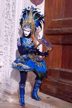 Street musician in blue at 2015 Carnival of Venice~ Flickr - Photo Sharing!