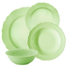 Kütahya Porselen Naturaceram Lar 24 Parça Yeşil Yemek Seti