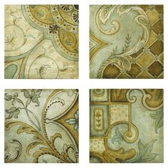 4-piece canvas print set. Product: 4-Piece wall decor set Construction Material: MDF and canvas  Features...