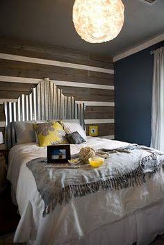 corrugated tin headboard turned elegant