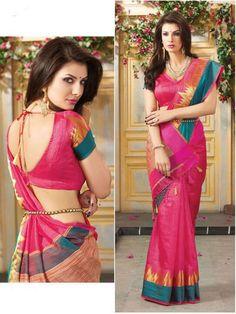 ethnic indian designer bollywood punjabi asian sari blouse new brand silk sarees #Shoppingover #Saree