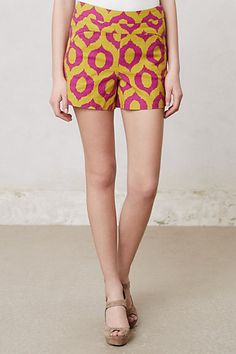 Looking for shorts that will go with a denim shirt.. one possibility: Ikat Shorts #anthropologie