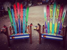 Super fun design on this pair. Last few days of Fall sale before the Holiday rush!!   Call or come by.  Tons of free stuff options with your purchase!  #blizzard #skis #skichair #adirondackchair #adirondackchairs #comfort #styke #neon #retro #throwback #dope #outdoorslife #outdoorliving #deckchairs #manitousprings #coffinraces #emmacrawford #halloween #october #coloradolife #coloradosprings #gardenofthegods #pikespeak #coloradogram #5280