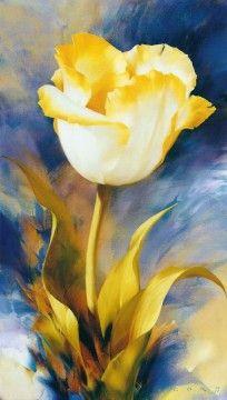 Tulip On Blue, 1999г., 100X55, х/м, Размещено на сайте 20.05.2012, © Copyright 2012, худ. И.Е.Левашов, Арнем (Нидерланды)