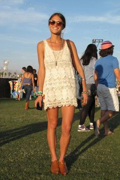 The perfect spring dress, spotted at Coachella via ELLE