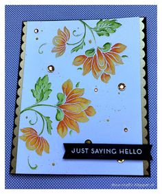 Altenew Persian flower card