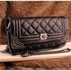 Womens black leather clutch evening bag $98.00