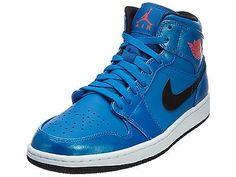 best service 6a482 85cda Nike Air Jordan 1 Mid Mens 554724-423 Sport Blue Basketball Shoes Size 12