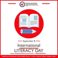 Education is the door that opens, discovers, revives, invents, a whole new world for you. On this International Literacy Day let's pledge to spread the light of literacy and illuminate more minds through education. #WorldLiteracyDay #internationalliteracyday2021 #InternationalLiteracyDay #educationforall #अंतर्राष्ट्रीयसाक्षरतादिवस #medicaldevicemanufacturing #medieralifescience
