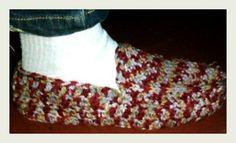 Pantuflas hechas con plantillas
