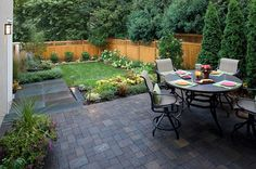 Small yard with a patio - Decoist