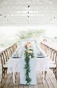 Pastel wedding decorations - Destination Hawaii Wedding at Puakea Ranch – Pastel wedding decorations Reception Table, Wedding Reception Decorations, Wedding Centerpieces, Wedding Ideas, Floral Centerpieces, Dinner Table, Wedding Details, Long Table Wedding, Wedding Table Settings