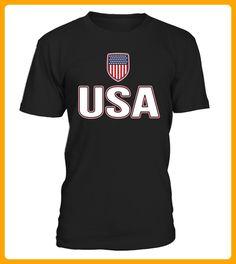 USA Red White Blue Tshirt American Flag USA Stars Stripes - Hockey shirts (*Partner-Link)