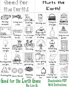 Printable earth day game for kids