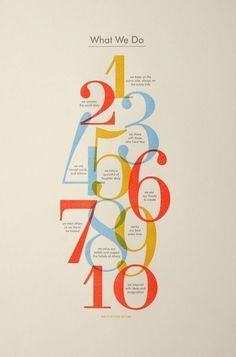 Classic/Editorial type : numbered list | Editorial design | Pinterest