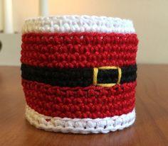 Christmas crochet pattern Christmas napkin ring Crochet