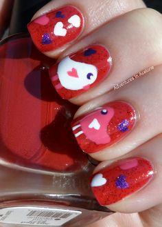 Adventures In Acetone: Lovebirds Valentine's Day Mani!