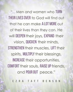 #LDS #Quote by Ezra Taft Benson http://sprinklesonmyicecream.blogspot.com/