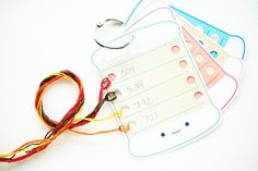 Print out thread organizer cards for keeping your embroidery floss tidy while working on a stitching project.