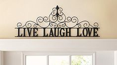 Scrolling Live Laugh Love Metal Wall Art by Collections Etc * Check this awesome product by going to the link at the image. (This is an affiliate link and I receive a commission for the sales)
