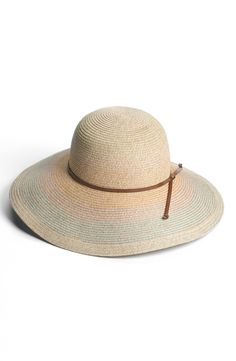 This multi turquoise floppy hat is perfect for poolsides or touring the town.