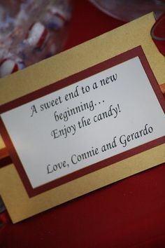 I like the wording on this card to put on the candy boxes/bags