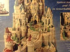close up of the Falkenstein castle miniature sculpture, this was a fairy tale…