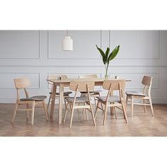 This retro inspired six-seater dining set is ideal for those of you looking for a designer look and quality without the price tag. The dining table is made from a solid oak construction and the solid wooden Constance dining chairs are ergonomically curved to give maximum comfort. The Constance chairs are made from solid wood, which brings a beautiful warmth to the chair. The other cool feature of these chairs is the integrated padded and upholstered seat which is covered in a thick grey…