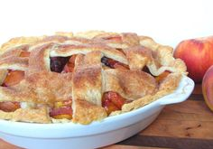 Peach Blackberry Pie Recipe - RecipeChart.com #Dessert #Pie