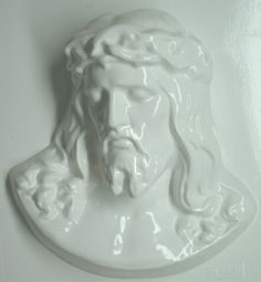 Jesus Christ Head Plaster Mold 8-1/2 x 9-1/4 Inch. Mix plaster of paris with water and pour into mold. Let the plaster harden. Now paint your finished mold with acrylic paints.