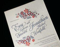 Sneak peek: meet Folk Floral, one of Bella Figura's 60 new wedding invitations for 2014