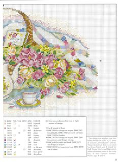 """Poetic Splendor"" a cross stitch pattern by Paula Vaughan.  Found on victoria71.gallery.ru"