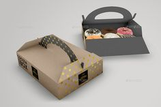 Food Pastry Boxes Donut Pastry Carrier Take Out Packaging Mockups Diy Gift Box, Take Out, Box Packaging, Donuts, Boxes, Pie, Strong, Easter, Decoration