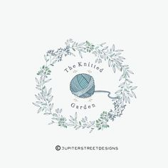 Logo Design-Corona Logo-maglia Logo-Business Branding Knitting Room, Boutique Names, Pillow Embroidery, Crochet Mask, Floral Logo, Diy Arts And Crafts, Business Logo, Crochet Projects, Lana